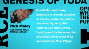 Nick Maley offers his expertise on Yoda's image