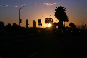Miami, Florida sunrise. Taken with a simple portrait lens.