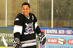 Cuba Gooding Jr. was one of many stars that appeared at Luc's Shootout.